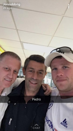 Pedro in EDI Airport Sunday 20th August