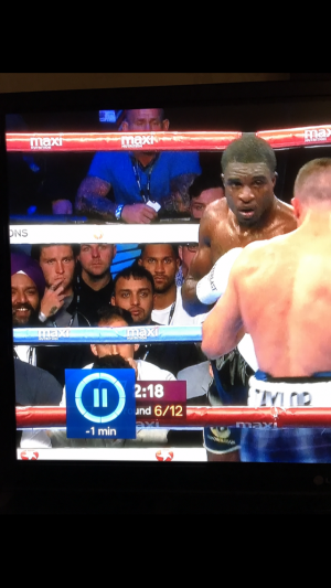 Windass and Fodders at the Josh Taylor fight learning how to grow a set.